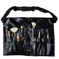 All'ingrosso-Professionale Due Array Cosmetic Makeup Brush Grembiule Borsa Artista Cintura Strap Adjustable Make up Borsa Pennello Cosmetic Brush Holder
