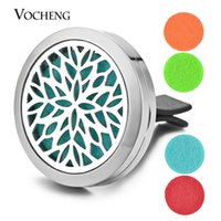 Wholesale Stainless Clips - Perfume Locket Car Aromatherapy Diffuser Vent Clip 316L Stainless Steel Pendant Magnetic Flower without Felt Pads VA-315