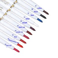 lábio escuro liner venda por atacado-12 pçs / dúzia automático rotary lip liner long-lasting marca natural maquiagem sexy produtos senhora à prova d 'água beleza 2015 lip penci tem 10 cores