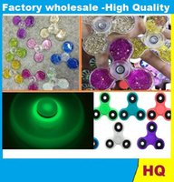 Wholesale Spinning Glow Toys - New toys Luminous Spinner Fidget Toy ABS Plastic EDC Hand Finger Spinner lighting glow in the dark Spinning Top Quicksand Hand Spinner DHL