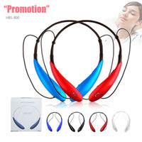 Wholesale Bluetooth Earphones For Cellphones - HBS-800 Stereo Sports Bluetooth Headset Wireless Headphone Neckband Style Earphones For HTC Samsung LG Sony Cellphone