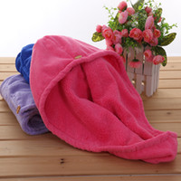Wholesale Super Magic Towel - Shower Caps Plush Super Absorbent Hairs Cap Microfiber Magic Quick Dry Towel Bathing Hats Turban Wrap Hat High Quality 5 5gy C R