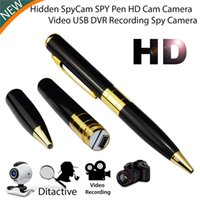 Compra Video Argento-Spy Pen DVR HD 720P Videoregistratore Spy Hidden Camera Pen Dvr Business Recorder Portatile SilverGold