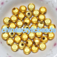 Wholesale Deep Blue Acrylic Beads - 200Pcs Round Acrylic Miracle 8MM Loose Spacer Beads 3D Illusion Plastic Round Beads Jewelry Making Findings Wholesale