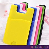 Borsa Sticker Sticker Holder per carta da parati Smartphone Custodia in Silicone Sticker Custodia per cellulare