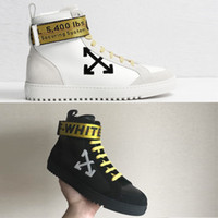 Wholesale Magic Boost - Newest Off White OW mens shoes Magic zipper Genuine Leather Ankle Boots womens Outdoor Boost Training Sneaker Skateboarding Shoes