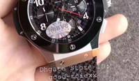 Wholesale Asia Watches - Super HBB V6 Factory Mens Automatic Chronograph Asia 7750 Clone Cal.4100 Watch Men Ceramic Bezel Rubber Sport Eta Watches Sapphire Stopwatch