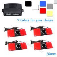 Wholesale Car Radars - Automotive Car Parking Reverse Backup Radar Sound Alert 16mm 12V 7 Colors Reverse Assistance + 4 Sensors,Free Shipping