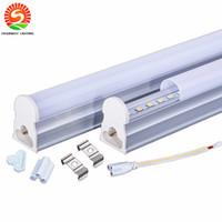 Wholesale T5 Bulb Warm - 1ft 2ft 3ft 4ft 5ft 8ft led t5 tube lights Cooler Lighting Integrated CREE Led Lights Tubes Bulbs AC 110-240V Warranty 3 Years