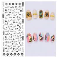 Wholesale Love Design Beauty - New Arrival Design Water Transfer Nails Art Sticker Beauty Words LOVE Black Nail Wraps Sticker Fingernails Decals