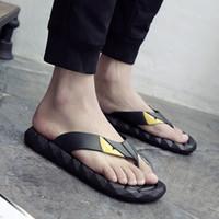 Wholesale platform t strap heels - 2017 Men's Sandals Casual Summer Slippers Shoes Men Lesiure Rubber Platform Sandals Beach Flip Flops For Men sandalias mujer A 17040401