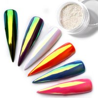 Wholesale Chameleon Powder - 0.2g Exclusive Neon Chrome Powder Nail Glitters Uv Gel Polish Rainbow Colorful Effect Chameleon Mirror Powder Manicure Dust 2017