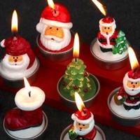 Wholesale Santa Claus Candles - Santa Claus Snowman Candles Christmas Party Decoration Candles Lamp Art Candles Xmas Eve Candle 3pcs Set 300Lots OOA3299