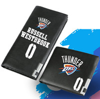 Wholesale Note Basketball Case - Russell Westbrook wallet Sport star purse Basketball fans short long cash note case Money notecase Leather burse bag Card holders