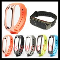 Wholesale Carbon Fiber Watch Band Strap - For Xiaomi Mi 2 TPU Carbon Fiber Silicone Smart Bracelet Wristband band Replacement Strap Miband 2 Accessories Strap environment watch band