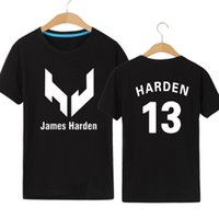 Wholesale Longest Beard - Beard man t shirt James Harden short sleeve gown Basketball sport tees Leisure unisex clothing Quality cotton Tshirt