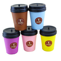 Wholesale apples coffee - Cute Squishy Coffee Cup Slow Rising Jumbo Milk Phone Strap Kawaii Pendant Soft Coffee Cup Model Kids Fun Decompression Toys
