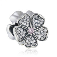 Apple Blossom Charms Beads Autêntica 925 Sterling-Silver-Jewelry AAA CZ Flower Bead DIY Brand Summer Charm Bracelets Acessórios HB631