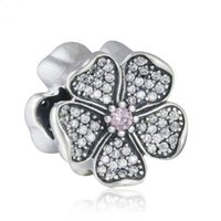 Apple Blossom Charms Beads Auténtico 925 Sterling-Silver-Jewelry AAA CZ Flower Bead DIY Brand Summer Charm Bracelets Accesorios HB631