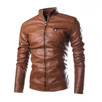 Wholesale B16 Sleeves - New arrive brand motorcycle leather jackets men's leather jacket jaqueta de couro masculina mens leather jackets Slim men coats B16