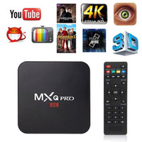 Wholesale Tv Box Dvb Wifi - MXQ pro Smart TV Box RK3229 Android 6.0 1GB 8G 4K 1080P Streaming Iptv Boxes Media Player support WiFi H.265