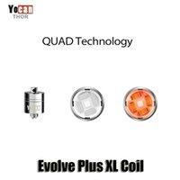 Wholesale Rods Wholesales - Authentic Yocan Evolve Plus XL Wax QUAD Coil Quad Quatz Rod Coils With Coil Cap For Evolve Plus XL Dab Pen Kit