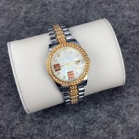 Wholesale Leather Buckle Bracelet Gold - 2017 BRAND MODEL Fashion lady watches women watch with red diamond Stainless Steel Bracelet Wristwatches Brand female clock gold silver