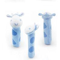 Wholesale toys bibi - Wholesale- Baby Rattles Cartoon Toy BIBI Bar Animal Squeaker Bar Baby Toys Hand Puppet Plush Doll Handbells Krystal