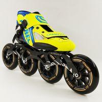 neue räder schuhe großhandel-NEUE Ankunft Professionelle High Speed Skate Schuhe Frauen Männer Große 4 * 110 MM Räder Rollschuh Inline Skating Stiefel Erwachsene Kinderschuhe