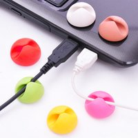 Wholesale China Accessories Chargers - DHL Cable Clip Desk Tidy Wire Drop Lead USB Charger Cord Holder Organizer Holder Line Accessories