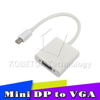 Wholesale Apple Mini Displayport Vga - Latest Thunderbolt Mini DisplayPort Display Port DP To VGA Adapter Cable for Apple MacBook Air Pro iMac Mac