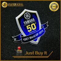 Wholesale R1 Decals - 3D LOGO Motorcycle Decals Stickers for Yamaha 50th Anniversary Edition YZF 600 1000 R1 R6 R3 TMAX 500 530