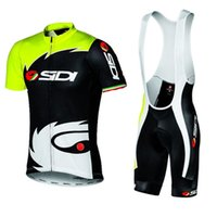 2017 Brand New Pro Team Sidi Men's Short Sleeve 100% Polyester Cycling Jersey Sets Quick-Dry Cycle Clothes Mountain Mountain Wear