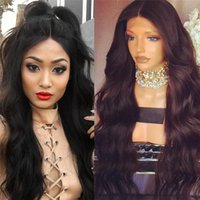 Wholesale Thick Lace Front - 8A Lace Front Human Hair Wigs Virgin Brazilian Human Hair Thick Full Length Best Lace Front Full Lace Wigs For Black Women