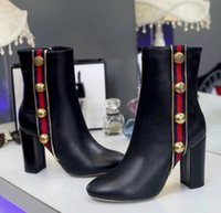 Wholesale Thick Low Heel Boots - spring autumn women boots single thick heel ankle boots motorcycle boots for leather pump women with zipper round toe dress shoe women pump