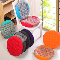 100 cotton round coarse cloth elastic chair cushions for kitchen chair solid color seat