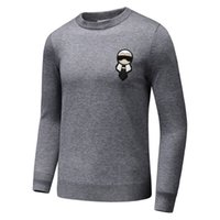Wholesale Black Fd - 2017 early autumn gentleman cashmere sweater real cashmere sweater FD gentleman ornaments sweater black and gray color