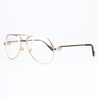 Wholesale Male Fashion Eyeglasses - High Quality Brand Designer Optical Eyeglasses Metal Frame Resin Lens Unisex Classic Large Frame Prescription Glasses With Original Box