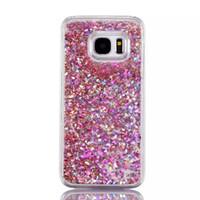 ingrosso copertine bling per la galassia ss5 di samsung-Dynamic Liquid Bling Star Quicksand Cover posteriore trasparente capa Fundas Case per Samsung Galaxy Note 5 A510 S5 / S6 / S6 Edge / S6 edge Plus / S7 / S7 Edge