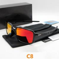 tr eyewear großhandel-Radsportbrillen NEU Mann Sport Sonnenbrille TR 90 FRAME polarisierte Brille Okular Ciclismo Gafas de Sol mit Box 9266 Radbrille