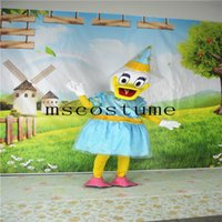Wholesale White Duck Adult Costume - 2017 Hot Christmas Ducks Girl Dresses Halloween Animals Cartoon Dolls Clothing Mascot Clothing Walking Adult Size Props