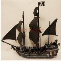Wholesale Model Black Pearl Pirate Ship - DHL F2017 804PCS 16006 Pirates of the Caribbean The Black Pearl Ship Building Model Blocks Set Toys Clone 4184