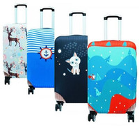Wholesale Trolley Trunk Suitcase - Women's Travel Trunk Drawbars Suitcase Luggage Protective Cover Ladies Trolley Case Dust Covers Accessories Elasticity Box Sets