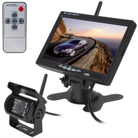 Discount wireless reversing camera monitor - 2.4GHz Wireless Car Monitor 7 Inch 800 x 480 Color TFT LCD Car Rear View Rearview Monitor + Wireless Backup Reverse Camera