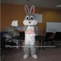 traje de coelho mascote adulto venda por atacado-Bugs Bunny mascot costume frete grátis, barato de alta qualidade festa de carnaval Fantasia de pelúcia andar coelho mascote tamanho adulto.