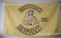 Ghostriders MC Flag 90 x 150 cm Poliéster Alemán Motorcycle Club One Percenter Biker Banner