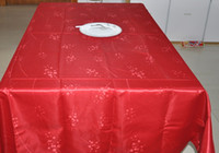Wholesale Disposable Cloths - 100% polyester jaquard table cloth rectangle 150*200cm , the p high quality wedding table cloth