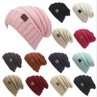Wholesale Elegant Men Hat - 2017 New Unisex CC Beanies Elegant Knitted Hats Cap Beanies Autumn Winter Casual Cap Women Men Christmas Gift 13 color