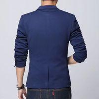 Wholesale Hot Mens Suit Dress - Wholesale- Spring 2017 New Hot Sell High Qualtiy Dress Blazer Men Casual Suit Men Slim Fit Mens Blazer Jacket Blazer Masculino