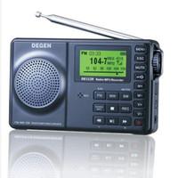 Wholesale Ats Radio - Wholesale-original DEGEN DE1129 radio FM Stereo SW DSP ATS 4GB Digital Recorder receiver Portable Multifunctional LED Radio freeshipping